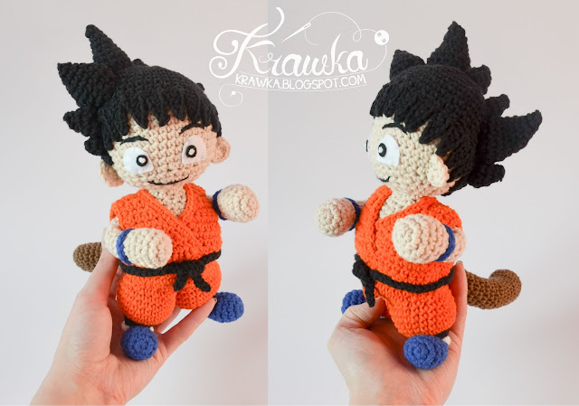 Krawka: Son Goku - Dragon Ball inspired crochet pattern by Krawka