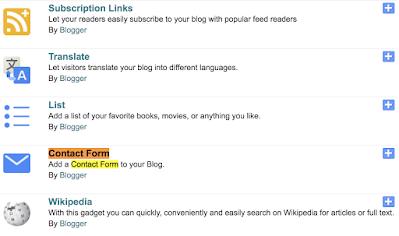 contact form widget blogger - logicbrace