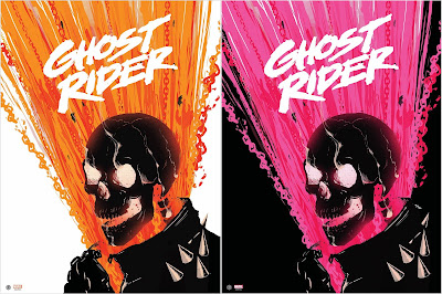 Ghost Rider Marvel Screen Print by Doaly x Grey Matter Art