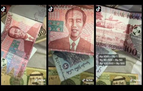 Viral Uang Redenominasi Rp 100 Bergambar Jokowi