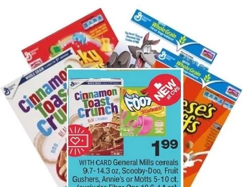 cheap cereal at cvs this week