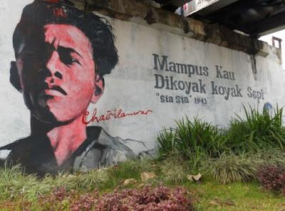 Mural Chairil Anwar (urusandunia.com)