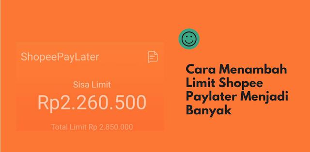 cara menambah limit paylater
