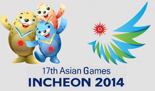 Logo Asian Games ke 17 Tahun 2014 di Incheon Korea Utara