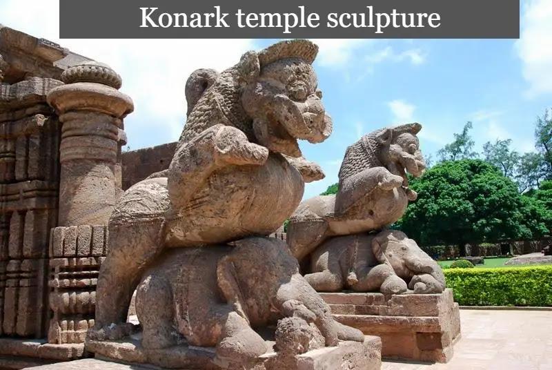 Konark temple sculpture