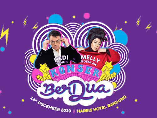 Konser Hedi Yunus dan Melly Goeslaw di Bandung