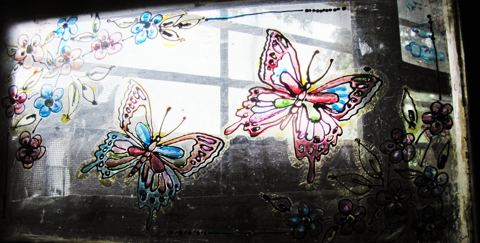 Butterfly designs for glass painting - photo#34