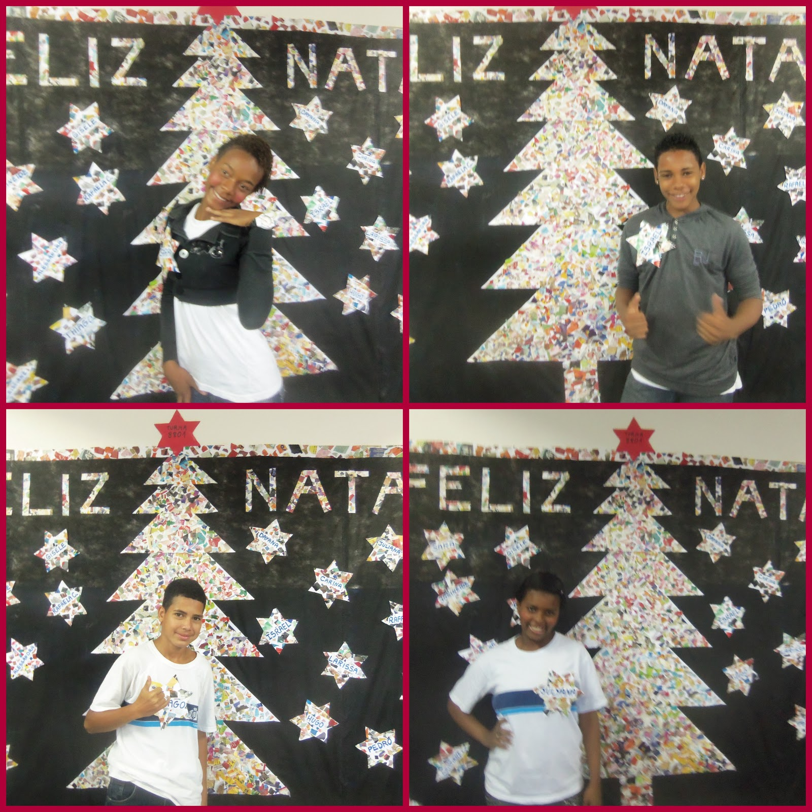 ESCOLA MUNICIPAL JOAQUIM RIBEIRO O Acelera Monta a Decoraç u00e3o de Natal -> Decoração De Natal Simples Escola