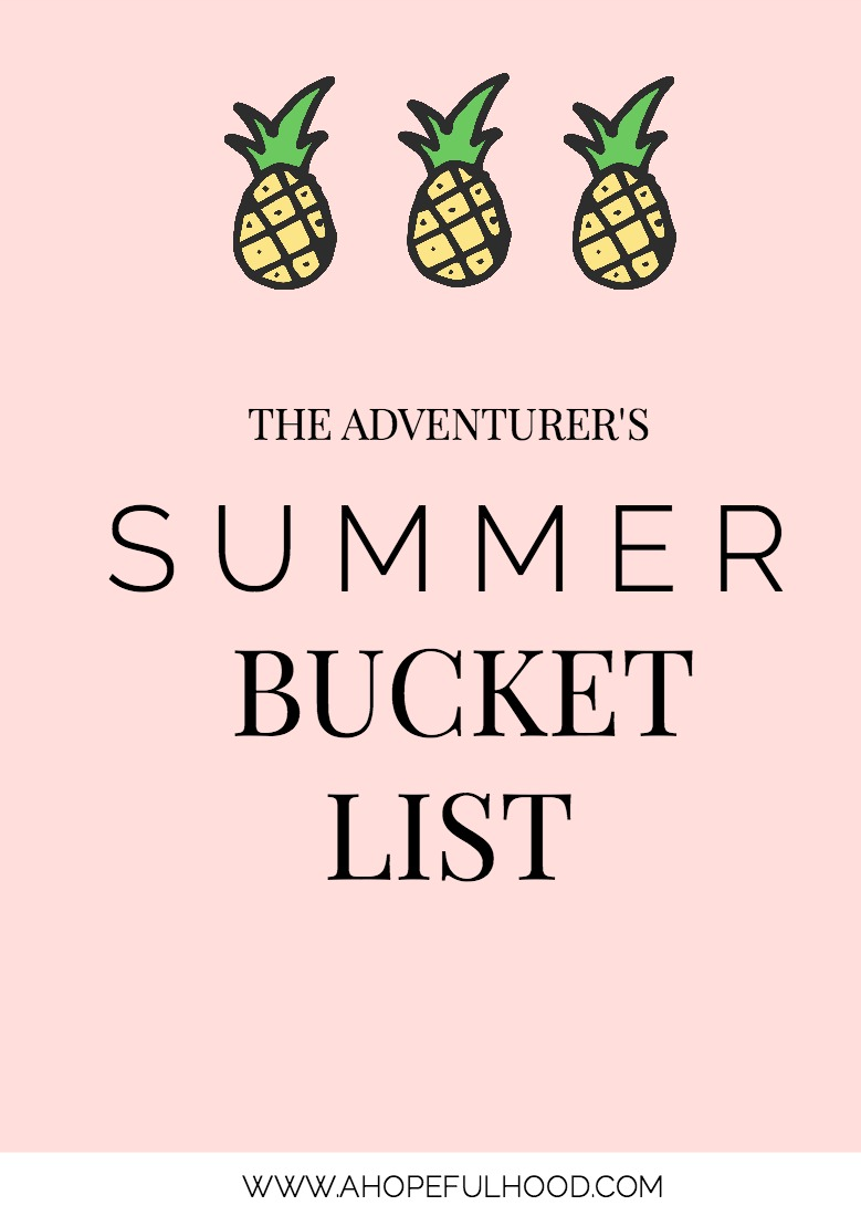All you need are some friends, a few sunny days, and you'll be set this summer with this fun mix of indoor and outdoor things to do this summer // #summer #bucketlist