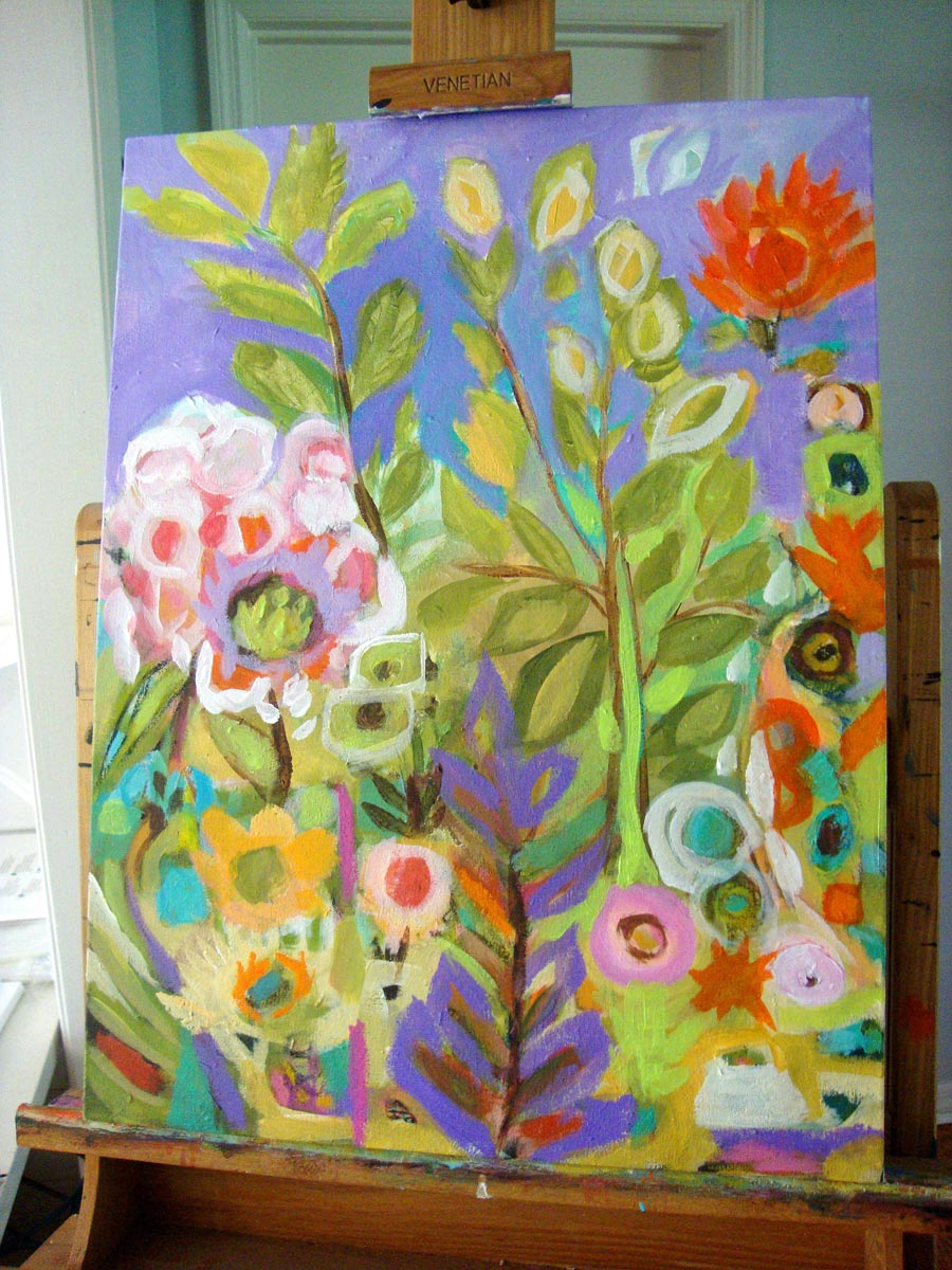 Painting In Progress Hipster Inspired Flowers