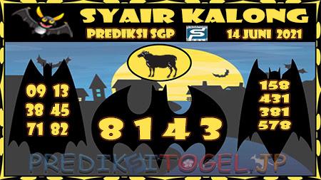 Syair Kalong SGP Senin 14-Jun-2021