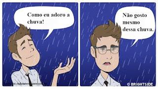 As Ilustrações hilárias que mostram como é usar um óculos pela primeira vez