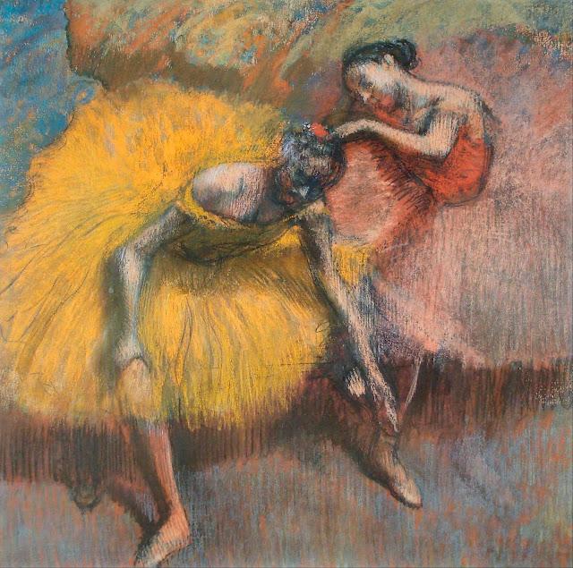 Эдгар Дега - Две танцовщицы в жёлтом и розовом (ок.1898)