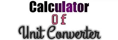 Calculator With Unit Converter