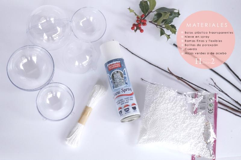 Tutorial cómo hacer tus bolas de Navidad de estilo nórdico y natural by Habitan2 | Decoración navideña de estilo nórdico