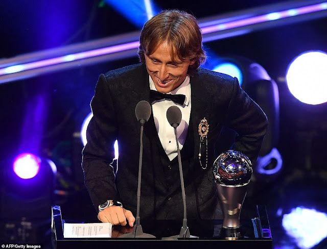 FIFA Best Awards 2018: Luka Modric wins Men's Player of ...