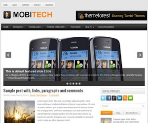 Mobitech 2 Column Blogger Template