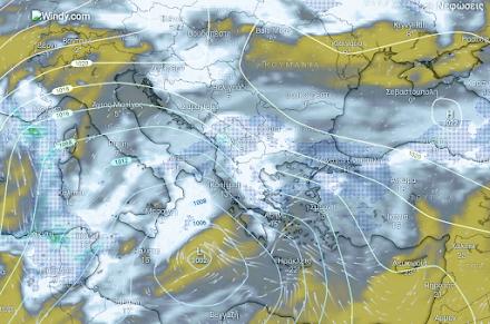 Τοπικές βροχές στα βόρεια και κεντρικά - Υψηλή συγκέντρωση αφρικανικής σκόνης - Χιόνια στα ορεινά της κεντρικής και βόρειας Ελλάδας.