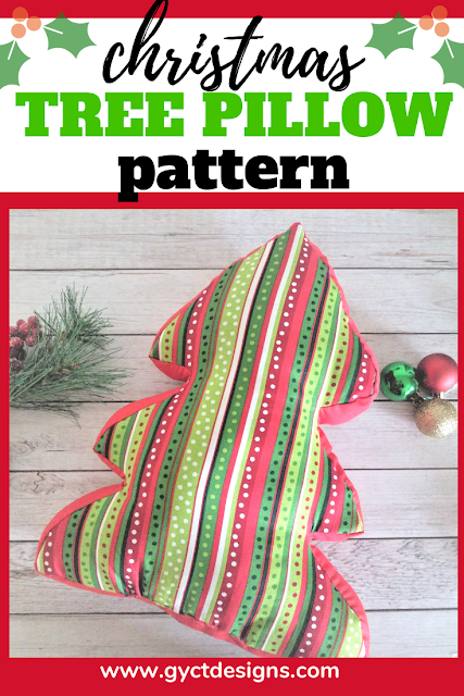 Sew up your own fun Christmas decorations with this free Christmas tree pillow pattern and tutorial.