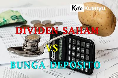 Dividen saham vs bunga Deposito mana yang lebih menguntungkan