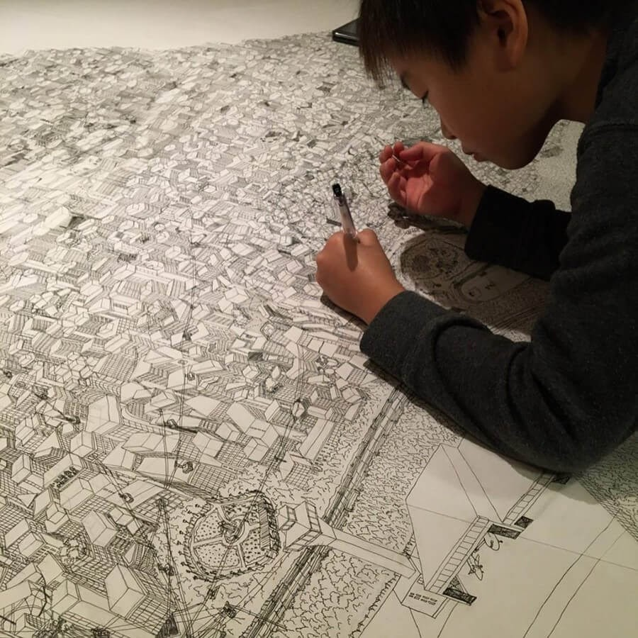 01-suigahaku-10-Year-Old-s-Architectural-Drawings-www-designstack-co