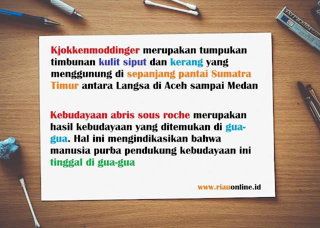 Kebudayaan Kjokkenmoddinger dan  Abris Sous Roche di Indonesia