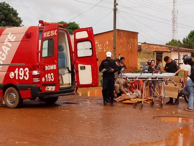 Buraco causa acidente em ciclista, em Guajará-Mirim