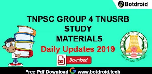 Tnpsc Group 4 important Study Materials   Download-Today Updates