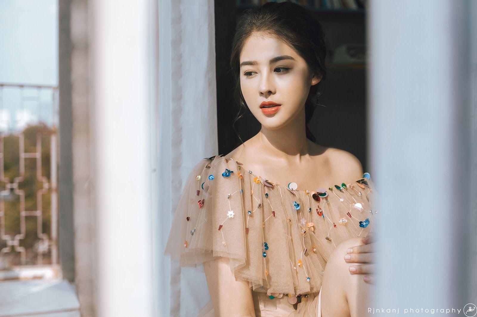 Ngắm ảnh Trần Quang Vũ xinh đẹp như hoa mùa xuân