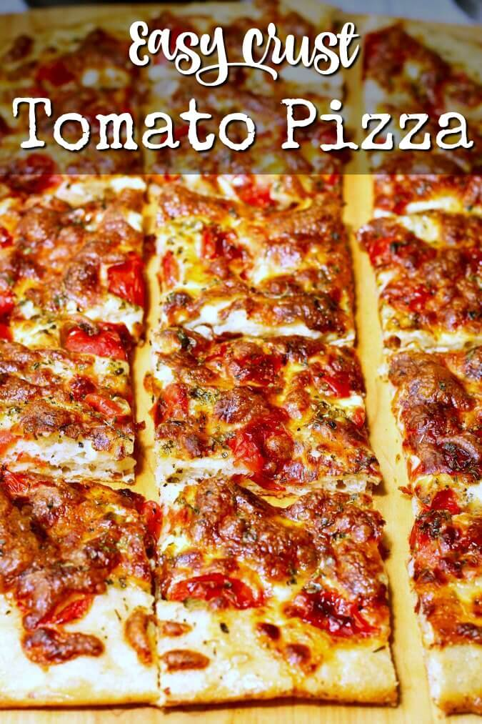 Easy crust fresh tomato pizza