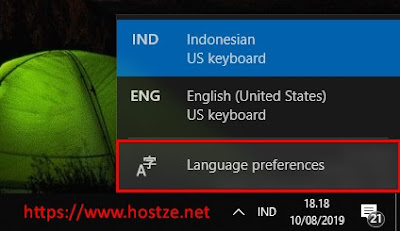 Pengaturan Bahasa Keyboard - Hostze.net