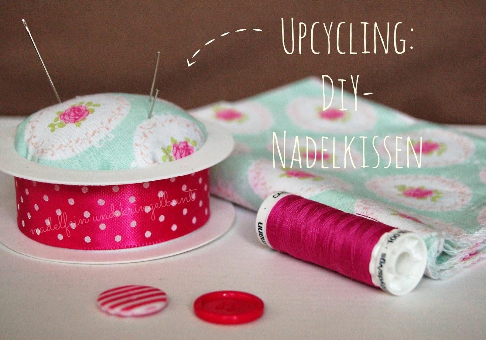 Upcycling Nadelkissen aus einer Geschenkbandrolle DIY Nähen