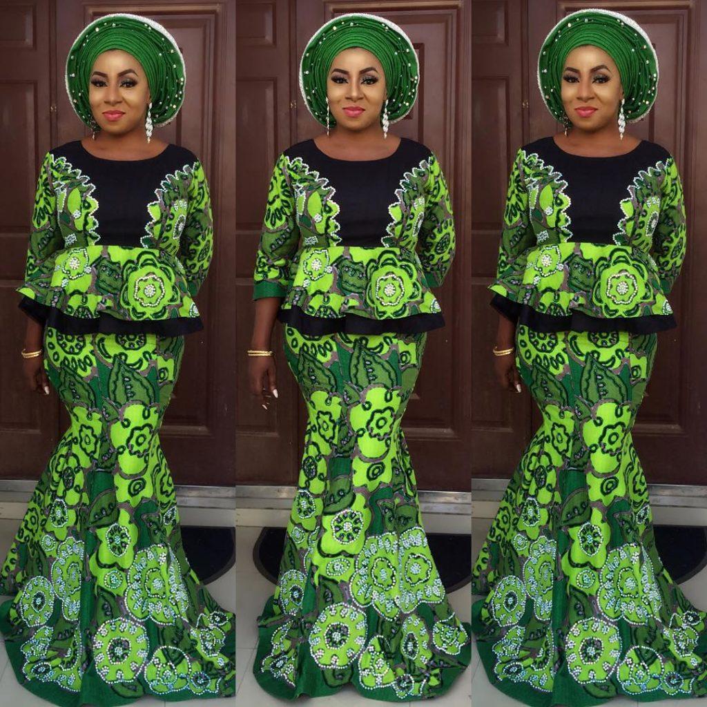 2017 05 aso ebi fashion styles nigeria wedding event fashion - Style 6