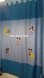 Cortinas disney bebe