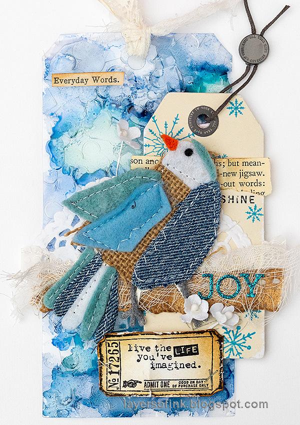 Layers of ink - Winter Bird Tutorial by Anna-Karin Evaldsson.