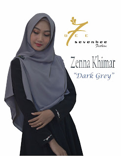 ZENNA KHIMAR DARK GREY