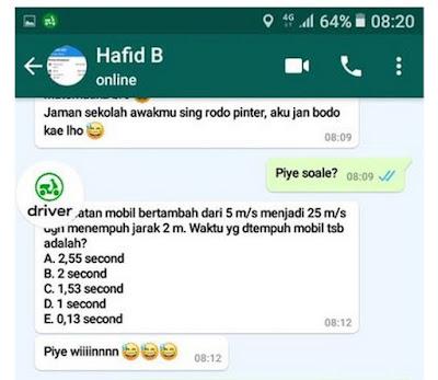 Viral Driver Ojol Kerjakan Soal MTK Via Whatsapp