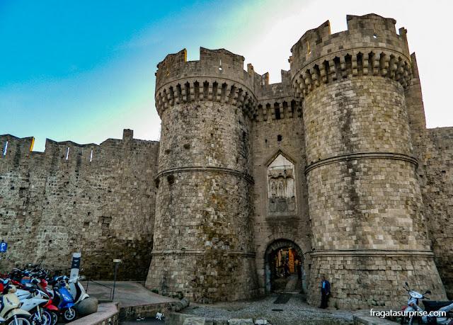 Porta Marina, acesso à cidade medieval de Rodes - Grécia