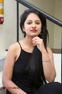 Actress Nikita Bisht Pictures in Black Long Dress at Akritti Elite Exhibition Launch  0047