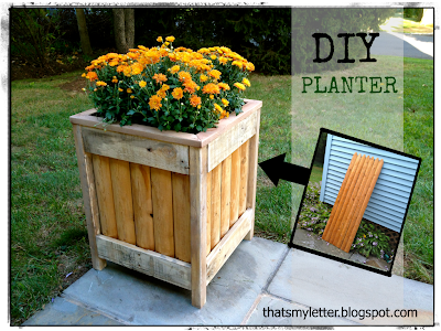 diy planter from cedar fence scraps