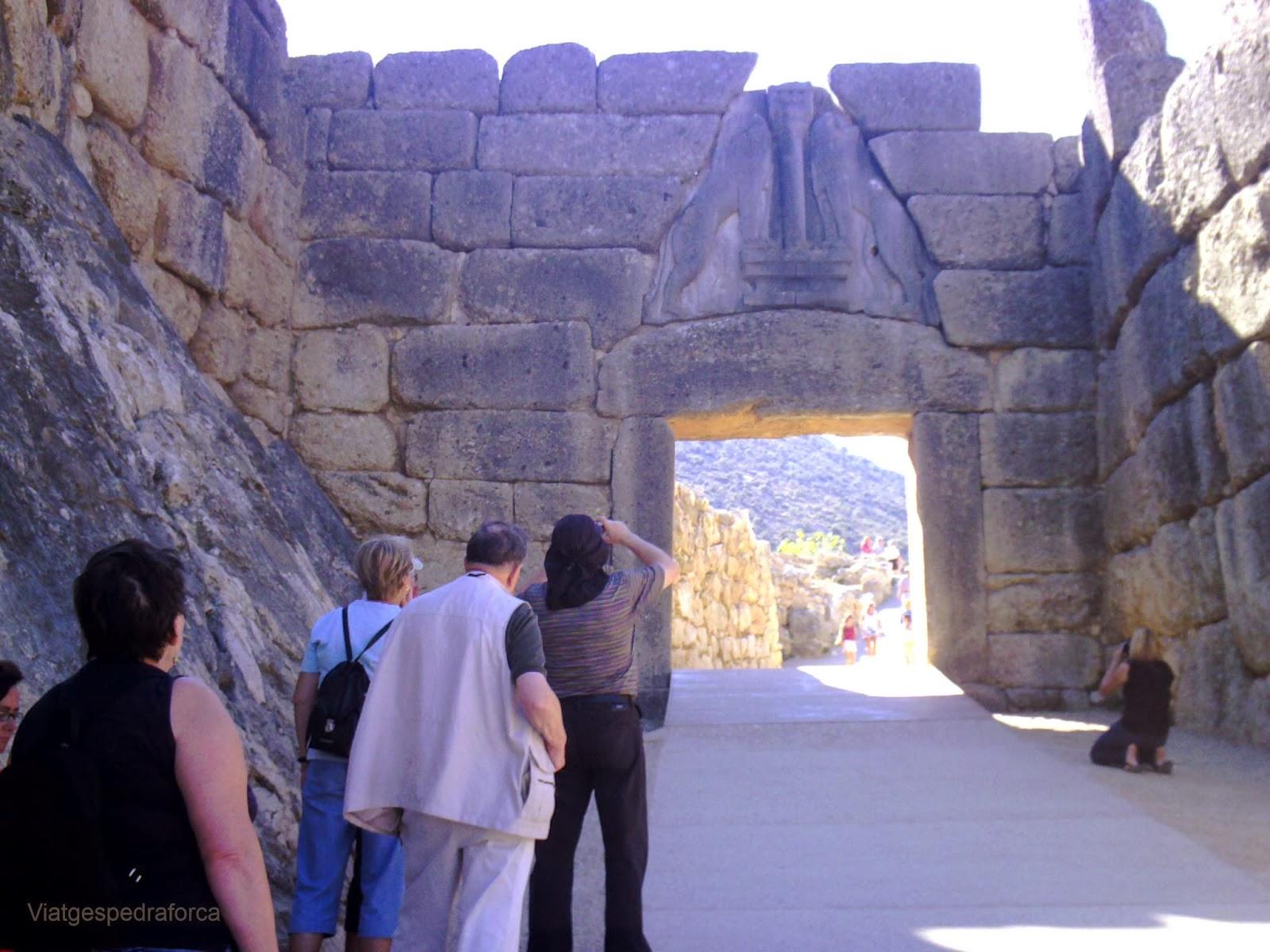 Micenes, Porta dels Lleons, Grècia, Peloponès, Civilització Micènica