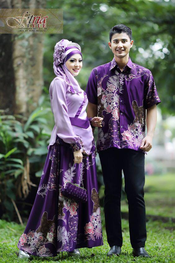 13 Contoh Model Baju Batik Couple Dengan Desain Terbaik  gebeetcom