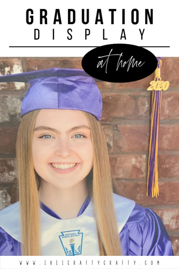 Graduation Display  |  How to make a graduation display at home for your high school senior  |  She's Crafty