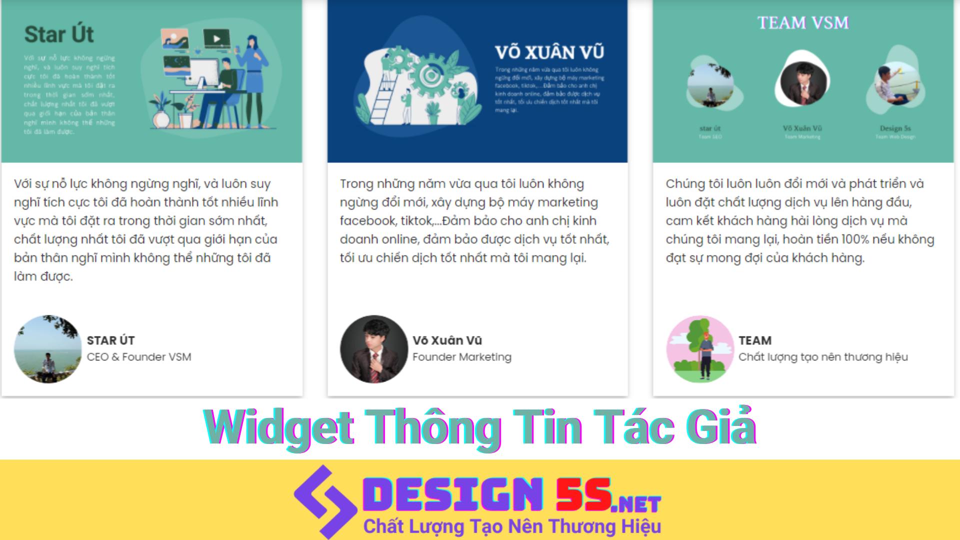 """Widget Thông Tin Tác Giả Cực Đẹp """"Theme Flatsome 3.9.0"""" - Ảnh 2"""