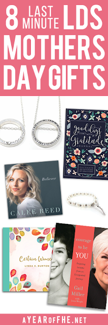 If Mother's Day crept up on you this year (like it ALWAYS does to me) then I have the perfect Gift List of last minute gifts you can buy using Amazon Prime and their 2 Day shipping option! I have most of these items and love them! These are great gifts for the LDS women in your life. #lds #mothersday #gifts #women