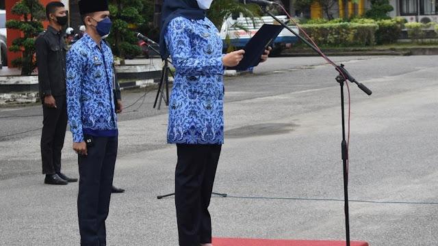 Upacara Peringatan Hari Kesaktian Pancasila Dipimpin Langsung oleh Bupati Inhu Rezita Meylani Yopi