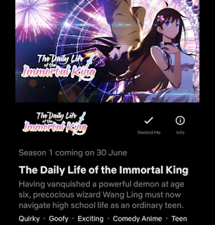 the daily life of the immortal king esta en netflix