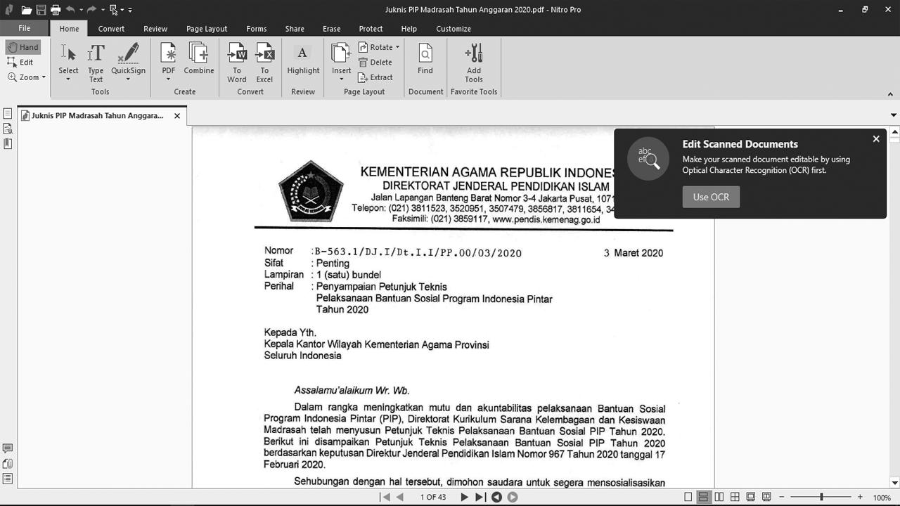 Juknis PIP Tahun 2020 Madrasah
