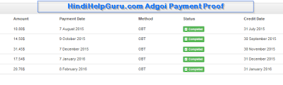 Adgoi Payment Proof Hindihelpguru
