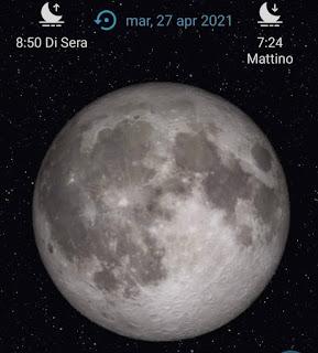 La luna del 27 aprile 2021